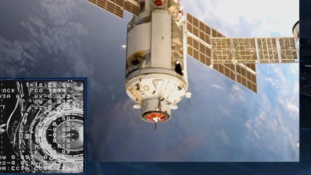 Nach acht Tagen Flug: Neues Labor an Raumstation ISS angekommen