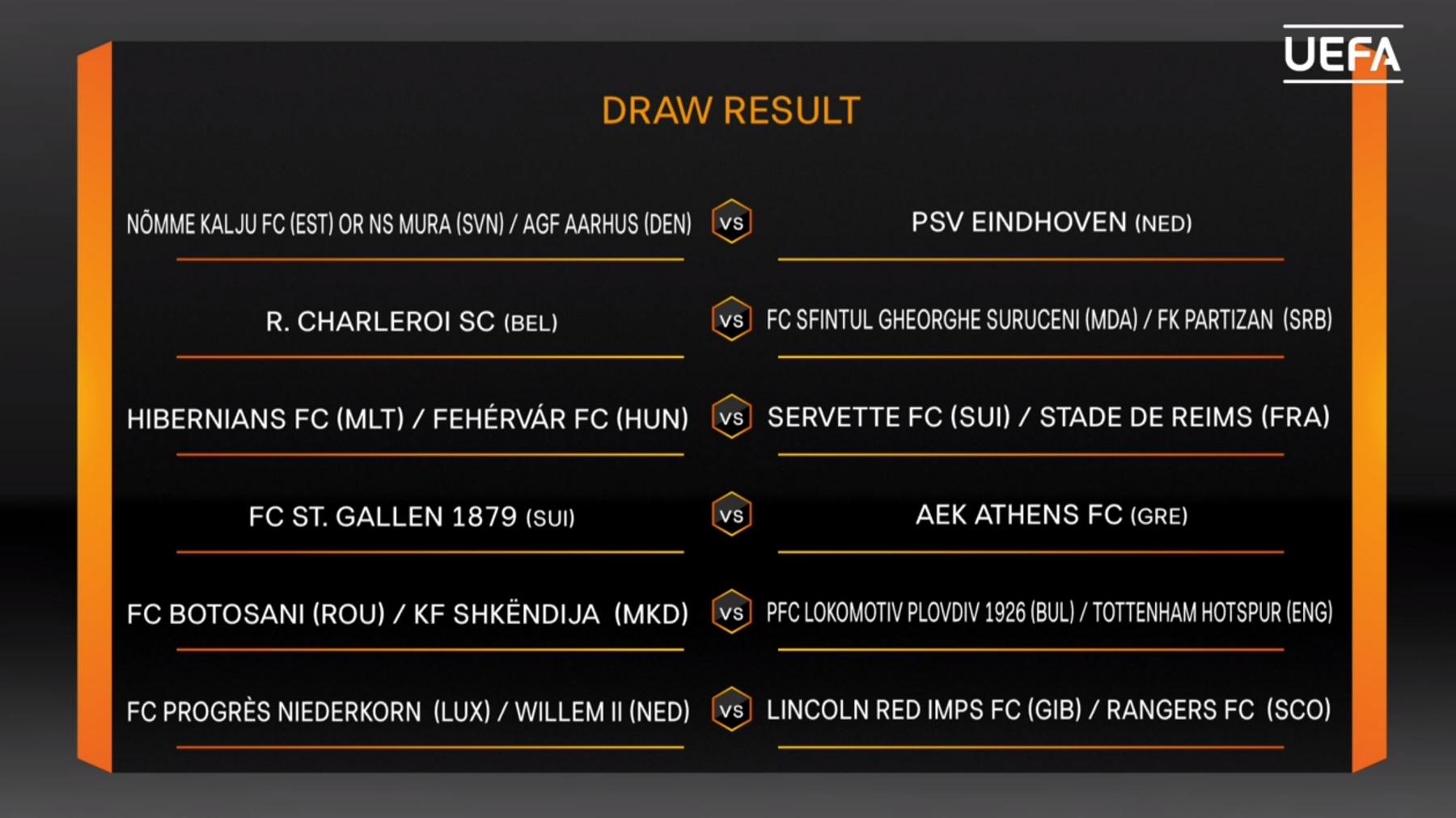 Das sind die Gegner der dritten Europa-League-Qualifikationsrunde