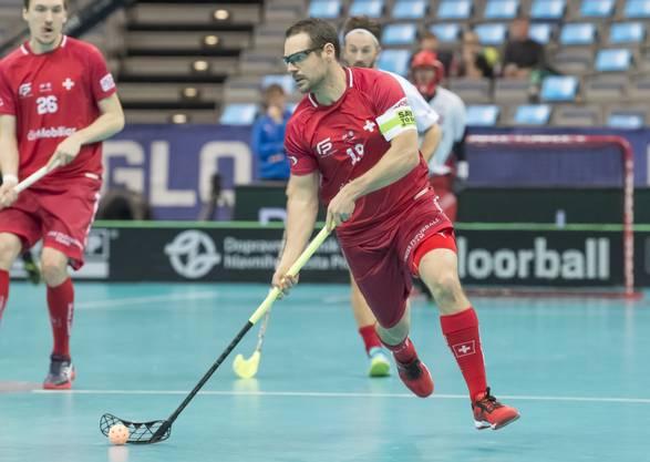 Matthias Hofbauer in einem seiner letzten Spiele für die Schweiz an der WM Ende 2018