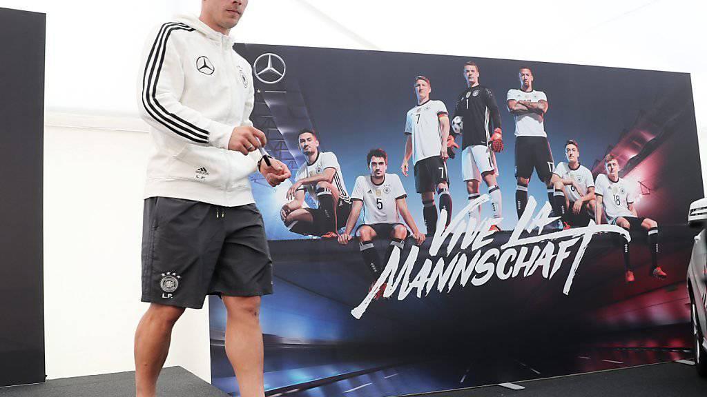 Stösst nach Vaterfreuden einen Tag später zur deutschen Mannschaft: Lukas Podolski