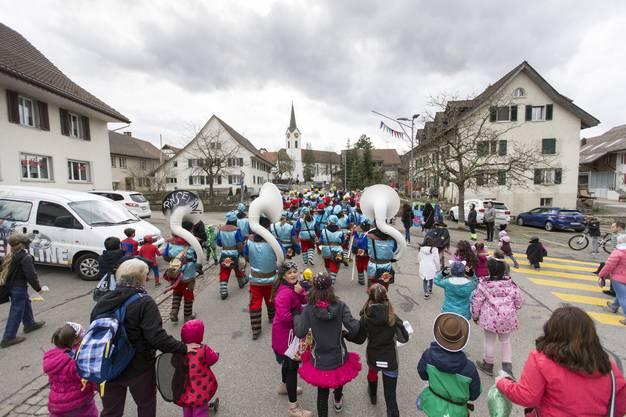 Kinderfasnacht in Ehrendingen aufgenommen am 4. März 2019.
