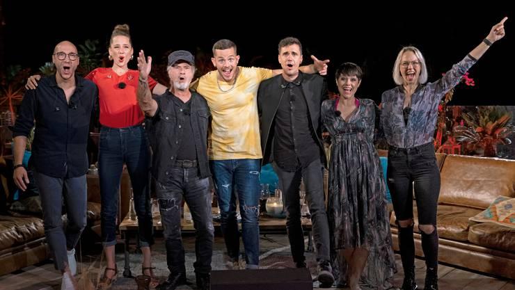 Die Teilnehmerinnen und Teilnehmer der ersten Staffel von «Sing meinen Song» auf TV24.
