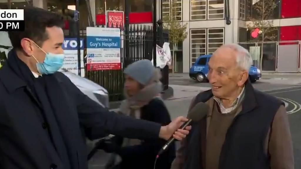 «Verdammter Käfer» - 91-jähriger Brite begeistert mit Interview nach Corona-Impfung
