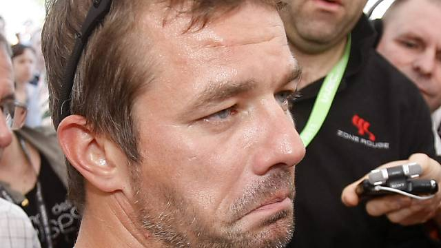 Sébastien Loeb ist sichtlich enttäuscht.