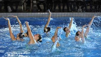 Die Synchroshow des Schwimmclubs Solothurn.