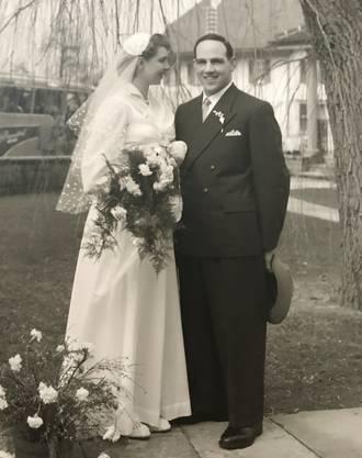 Das Brautpaar vor 65 Jahren: Am 12. März 1954 heirateten die beiden.