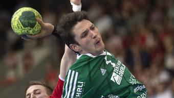 Wacker Thuns Nicolas Raemy erzielt gegen Pfadi Winterthur neun Tore (Archivbild)