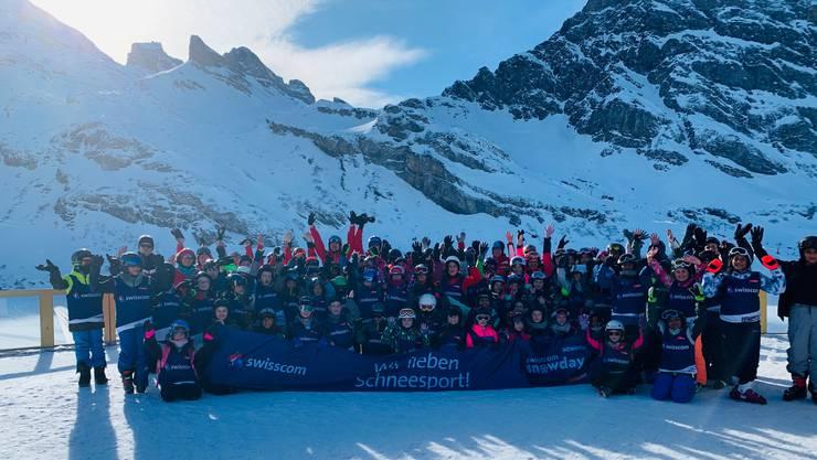 Diese Schülerinnen und Schüler nahmen an den «Swisscom Snow Days» teil.