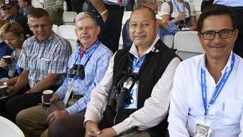 Auch der König von Tonga sah sich die Zweikämpfe am Sonntag an.