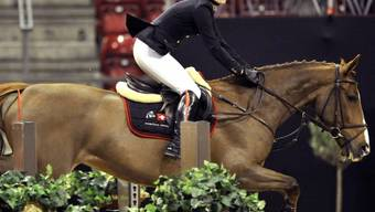 Martina Hingis gönnt sich und ihrem Pferd eine Pause