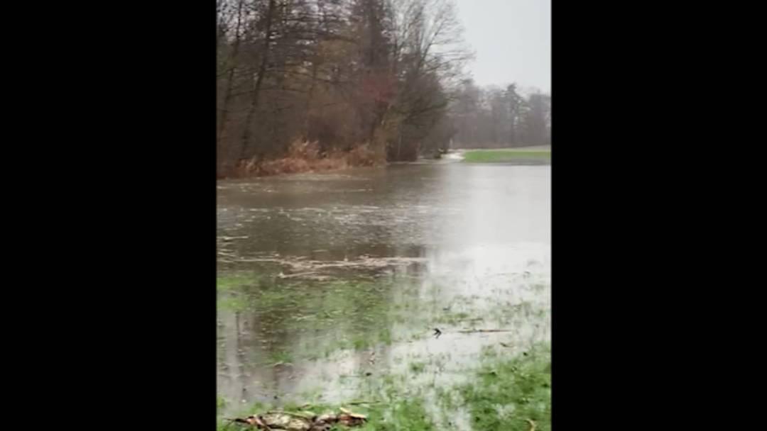Überschwemmungen zwischen Schloss Hallwyl und Hallwilersee, 14. Januar 2021
