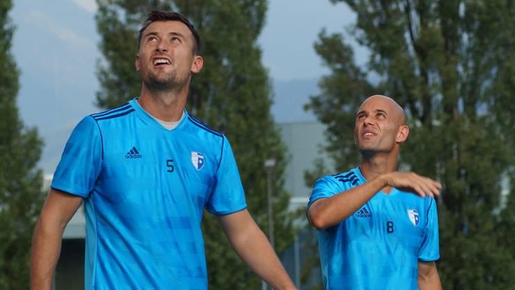 Kein Einsatz in Sicht: Michael Winsauer (links) und Sergio Bastida.
