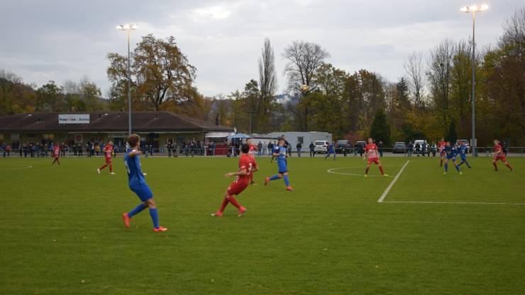 Der FC Dietikon verliert gegen das Team Aargau U-21 am Samstag, 4. November 2017 mit 1:2