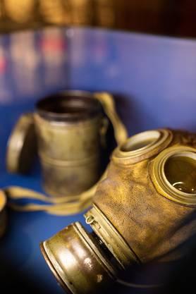 Sinnbild des 1. Weltkrieges: Gasmaske.