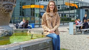 Gianna Regnani, 19-jährige Schülerin der vierten Klasse, hat die Leitung des Gymnasiums Unterstrass übernommen.