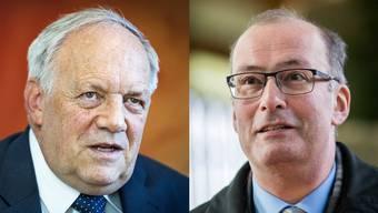 Sind beide sauer: Schneider-Ammann und Bauernchef Ritter.