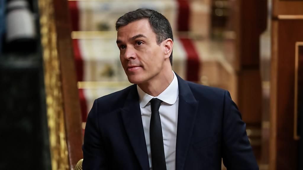 Ministerpräsident Pedro Sanchez im Parlament in Madrid. Foto: Pool La Vanguardia/EUROPA PRESS/dpa
