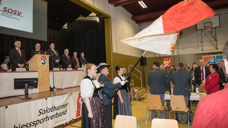 Festakt an der Schützen-Delegiertenversammlung in Messen.