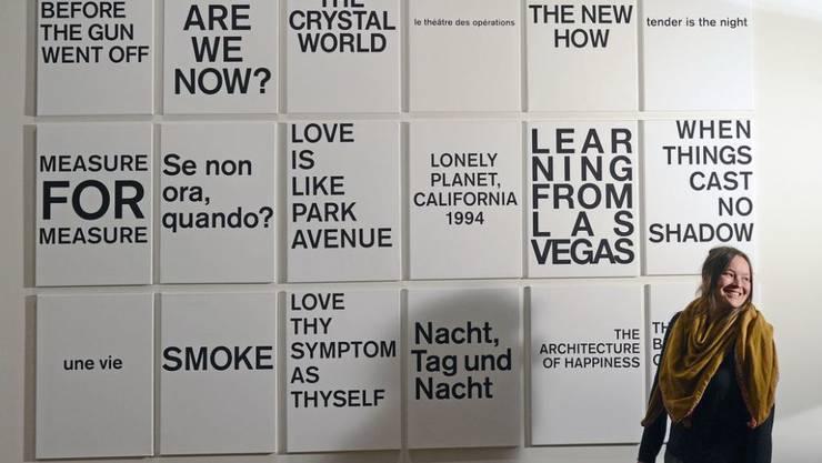 Die Walliser Künstlerin Elodie Pong, hier 2012 im City Museum in Jena, wird mit dem Förderpreis 2019-2021 der Erna und Curt Burgauer Stiftung in Zürich ausgezeichnet. (Archiv)