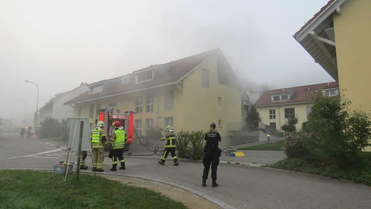 Durch das Feuer in der Tiefgarage entstand eine starke Rauchentwicklung.