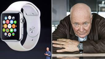Jean Claude Biver, Präsident der Uhrenmarke Hublot, glaubt, dass die Apple-Uhr auch die Schweizer Uhrenindustrie herausfordern wird.