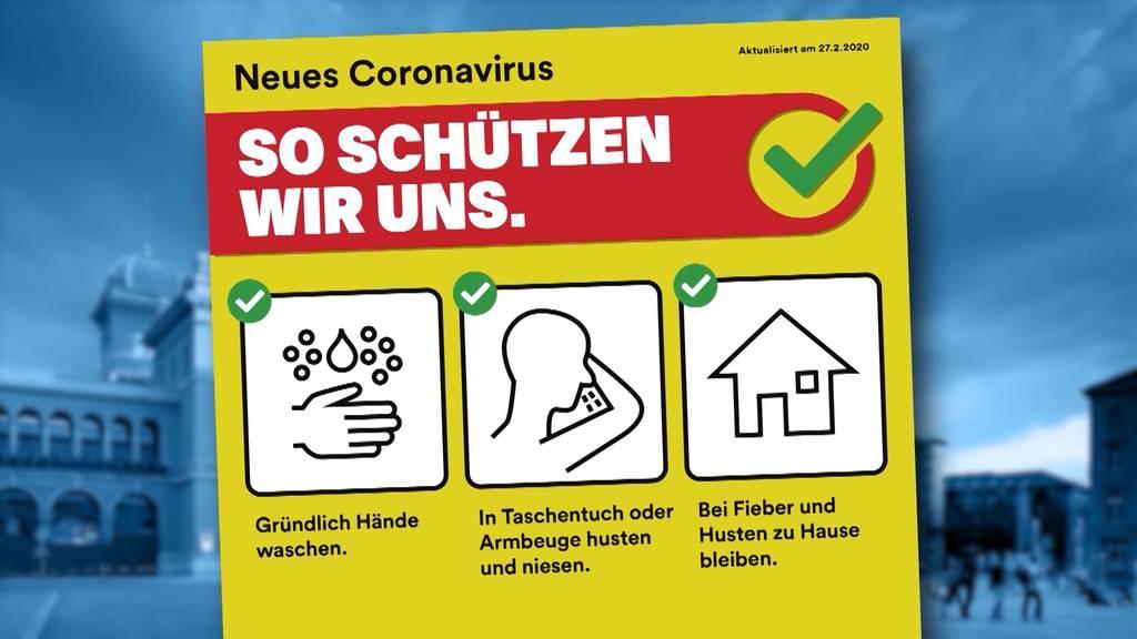 BAG stellt Info-Kampagne gegen Coronavirus vor