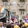 Die bunte Demonstration in Kiew für die Rechte von Homosexuellen stand unter grossem Polizeischutz.