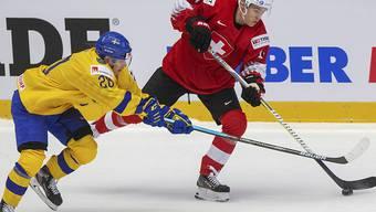 Der Schweizer Sandro Schmid im Vorrundenspiel gegen Schweden