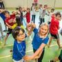 Schüler der Primarschule Kilchbühl in Biel-Benken bei einer ihrer letzten Probe vor dem Abschlussball. Hier beim Tango.Nicole Nars-Zimmer