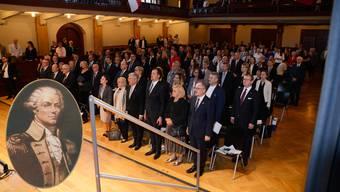 Die Feier zum Gedenken an Tadeusz Kosciuszko fand im Konzertsaal statt.