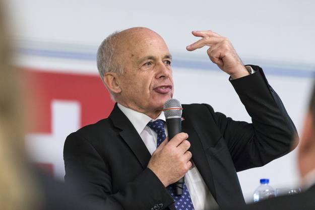 Prominenter Gast am Podium: Bundesrat und Finanzminister Ueli Maurer (SVP).