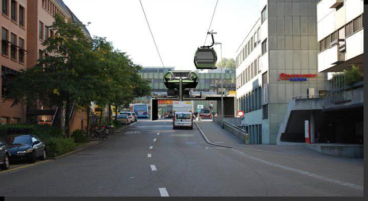 Das ist die «Bergstation», Bahnhof Ost: In vier Jahren schon könnte der Bau beginnen. (Quelle: Facebook)