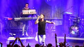 Der Berner Sänger Luca Hänni bei seinem Auftritt am Stadtfest Brugg 2019 in der Hofstatt.
