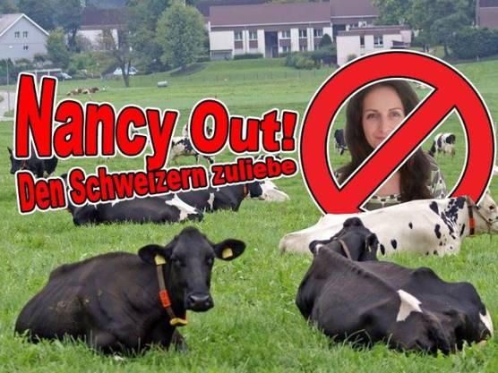 Als Konter-Aktion gegen ihre Anti-Kuhglocken-Facebook-Seite wird eine Hass-Seite gegen sie gegründet.
