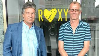 Der neue Verwaltungsratspräsident Marc Joset (links) und Roxy-Intendant Sven Heier.