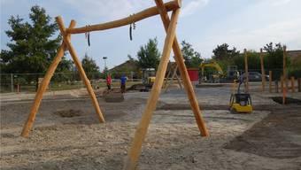 Der neue Spielplatz des Murimoos wird zum Jubiläum am 22. September weitgehend fertiggestellt sein.