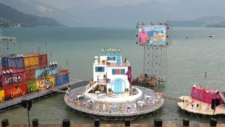 Die Bühne der Thunerseespielen zu Mamma Mia!