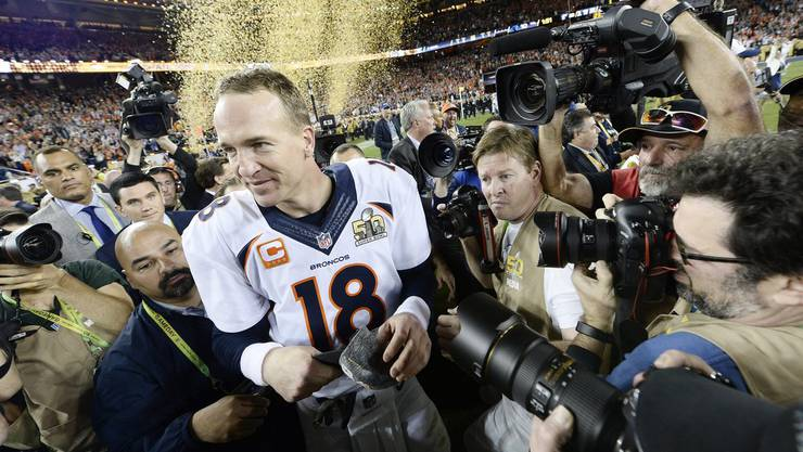 Broncos-Quarterback Peyton Manning nach dem Schlusspfiff