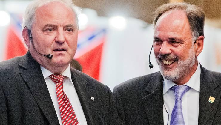 Daniel Moser (l.) und Hanspeter Scheiwiler sind Co-Vorsitzende.EFU