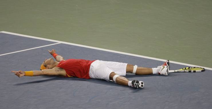 Nadal nach seinem Olympiasieg vor vier Jahren