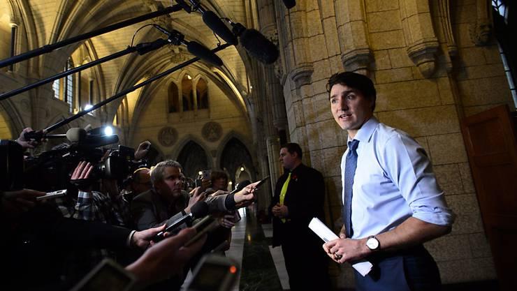 """""""Wir entschuldigen uns für die Herzlosigkeit"""": Kanadas Premierminister Justin Trudeau."""
