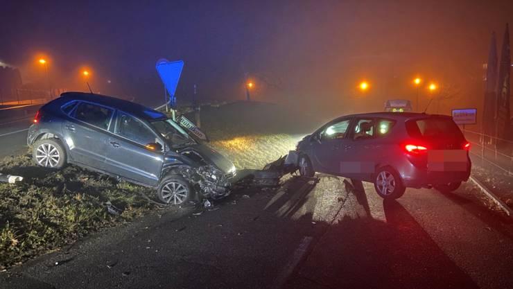 Beim Unfall in Wohlenschwil AG wurde niemand verletzt.