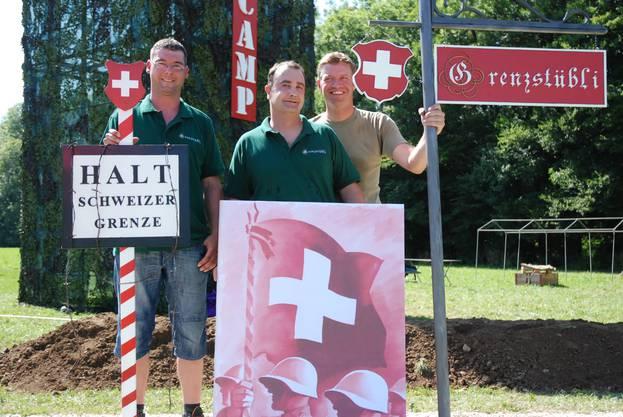 Das Grenzsstübli-Team mit Thomas Feldmann Christian Buck und Micha Meile