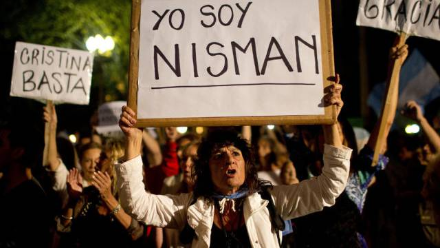 Demonstration für die Aufklärung des Todes von Nisman (Archiv)