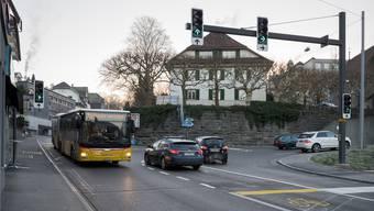 Ampeln regeln seit kurzem den Verkehr bei der Schartenstrasse.