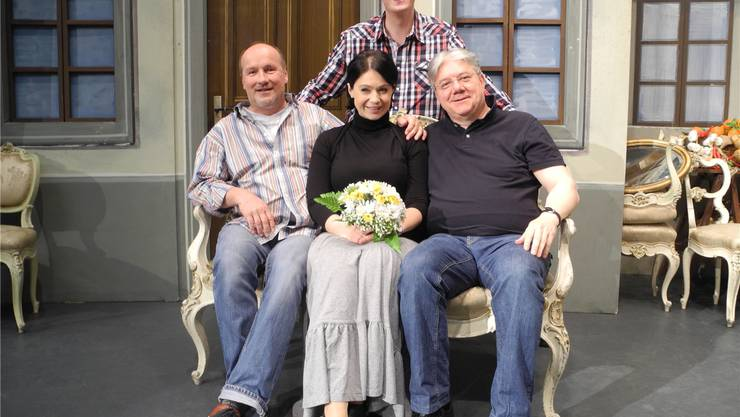 In den Classionata-«Startlöchern»: (v.l.) Thomas Mittmann, Rouwen Huther (oben), Luisa Albrechtova und Andreas Spörri.