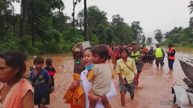 Laos: Bewohner flüchten nach Dammbruch