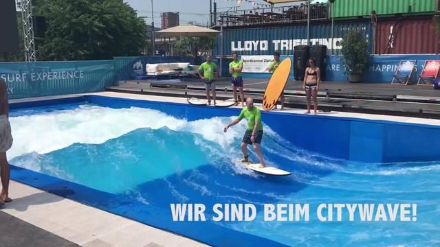 Die perfekte Welle mitten in Zürich