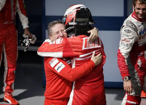 Räikkönen war der bisher letzte Ferrari-Weltmeister. 2007 sicherte er sich den Titel.