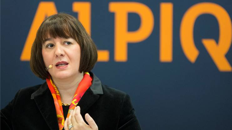 Alpiq-CEO Jasmin Staiblin an der Bilanzmedienkonferenz in Olten. Bruno Kissling